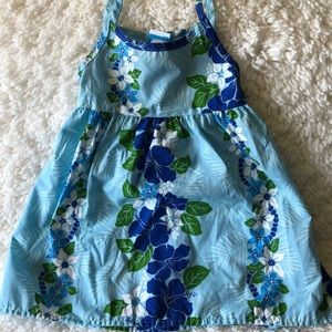 Little girls Hawaiian tank dress